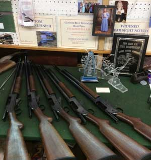 Some of the 1897 shotguns Jimmy had for sale.